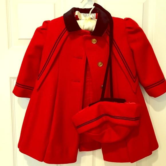 best selling closer at latest design Toddler girl sailor wool coat